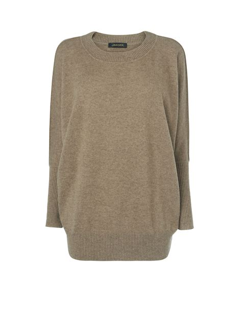 slouchy sweater jaeger slouchy sweater in brown beige lyst
