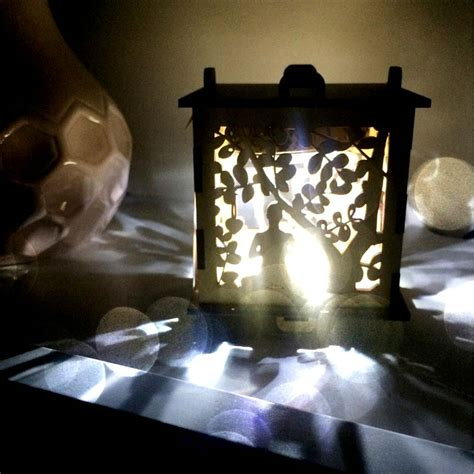 wooden night lights yoga