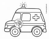Coloring Ambulance Transportation Pages Printable 4kids sketch template