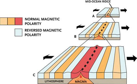 diagram of magnetic polarity changes in the seafloor