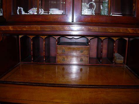mahogany china cabinet secretary bookcase henredon for