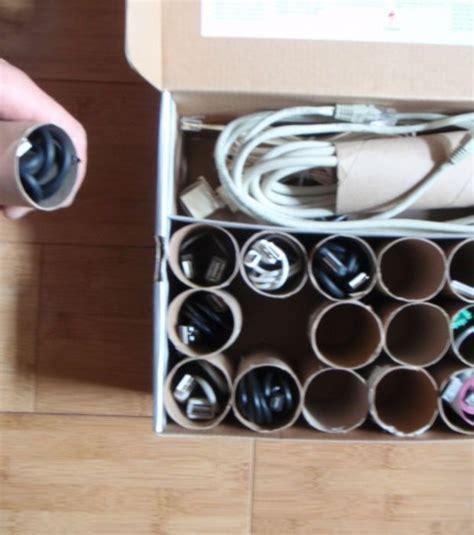 kabel richtig aufbewahren die klopapierrollen zum aufbewahren den kabeln organize klopapierrollen