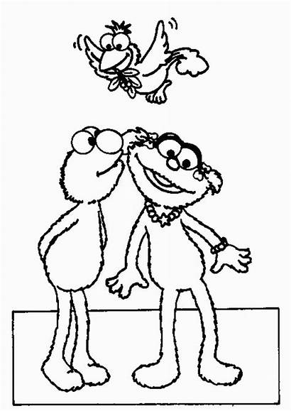 Sesame Elmo Coloring Pages Zoe Kiss Street