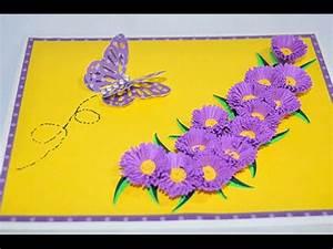 Happy Aster Card Cricut 3D Floral Home Decor Cartridge