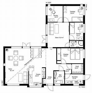 incroyable plan de maison de 100m2 plein pied 10 plan With plan maison 100m2 plein pied gratuit