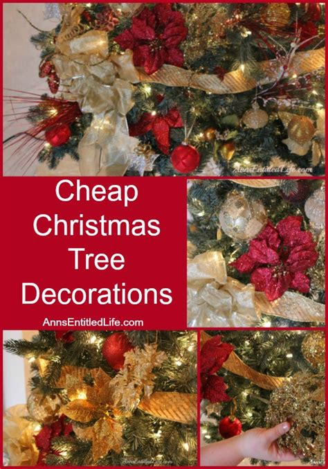 cheap christmas tree decorations