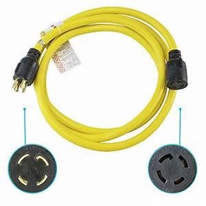 Houseables Generator Cord  Electric Extension Wire  4