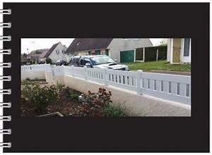Cloture Pvc Sur Muret : pose de cl ture en barreaudage mat rieu pvc ou aluminium ~ Melissatoandfro.com Idées de Décoration