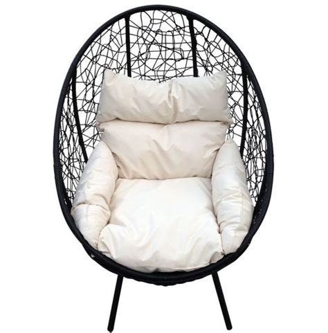 buy bentley garden black rattan pod chair on stand from
