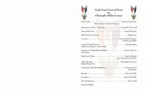 eagle scout court of honor program template 28 images With eagle scout program template