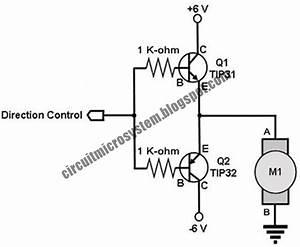 Two Transistor Dc Motor Driver Circuit
