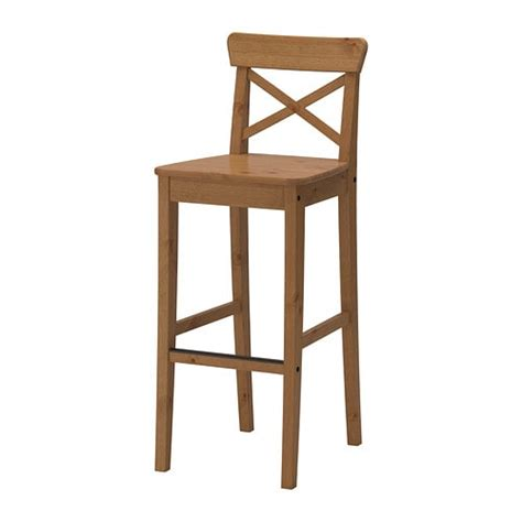Stools At Ikea Ingolf Bar Stool With Backrest 29 1 8 Quot Ikea