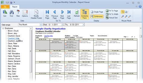 monthly employee schedule template excel printable