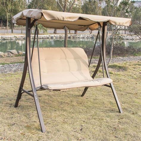 outdoor  person canopy swing glider hammock patio