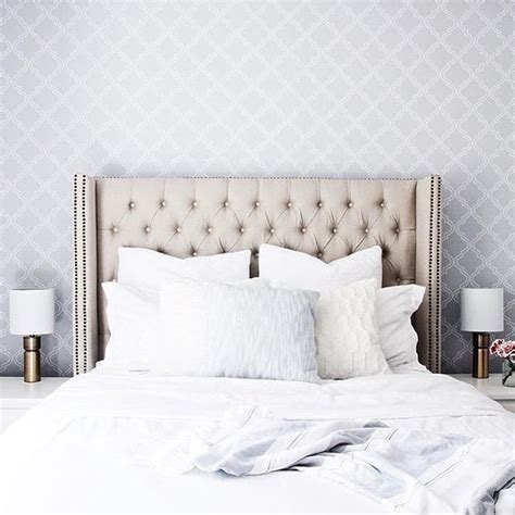Update Your Decor With This Gray Brick Peel And Stick Wallpaper by Versailles King Size Bed Bedrooms Bedroom Decor Peel