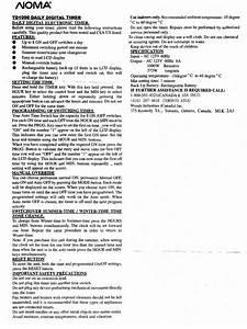Td1000 Electronic Digital Timer User Instructions