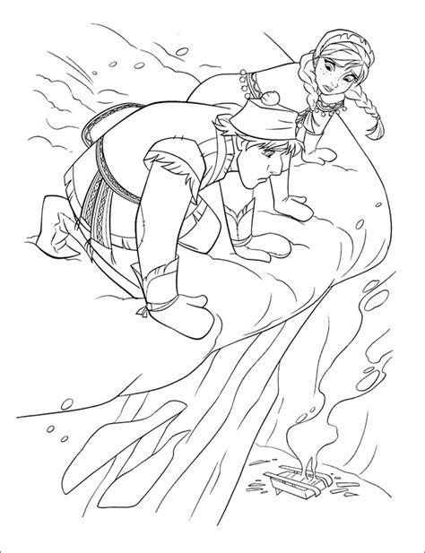 frozen coloring page templates  png format