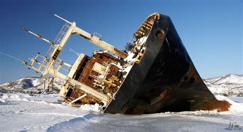 Antarctic Cruise Ship Sinks by Kamchatka S Abandoned Wonders Lazer Horse