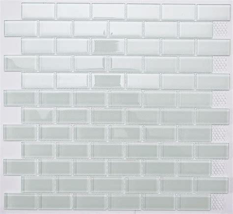 white glass mosaic tile white subway glass mosaic tile for bathroom kitchen backsplash ebay