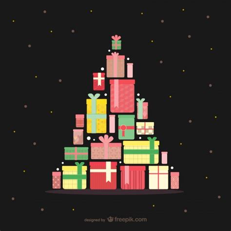 193 rbol de navidad con regalos descargar vectores gratis