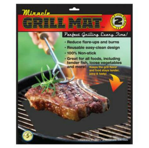 Grill Cooking Mats - miracle grilling mat set of 2 non stick grill mats bbq bar
