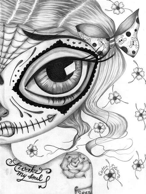 Pin by Lisa Moore on DIY and crafts in 2019 | Skull coloring pages, Fairy coloring pages