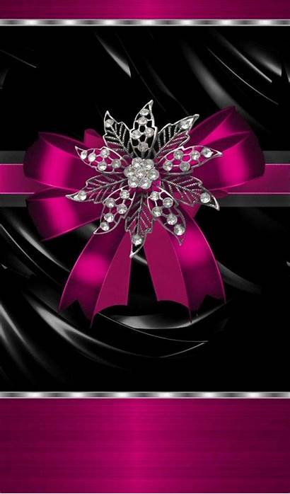 Pink Wallpapers Bow Silver Sparkly