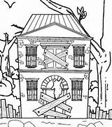 Haunted Coloring Printable Spooky Colouring Scary Coloringfolder sketch template