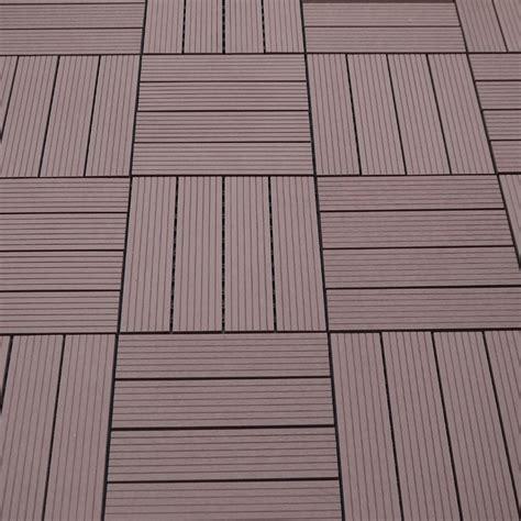 Wpc Balkonbodenfliesen Bambuskunststoff,braun