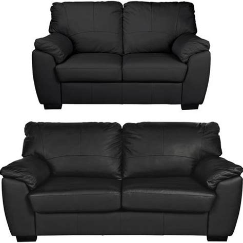 2 Seater Sofa Argos by Buy Argos Home Leather 2 Seater And 3 Seater Sofa