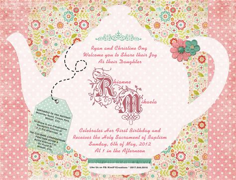 invitation party templates tea party invitation template invitation templates