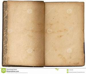 Old Blank Open Book stock image. Image of nostalgia, dirty ...