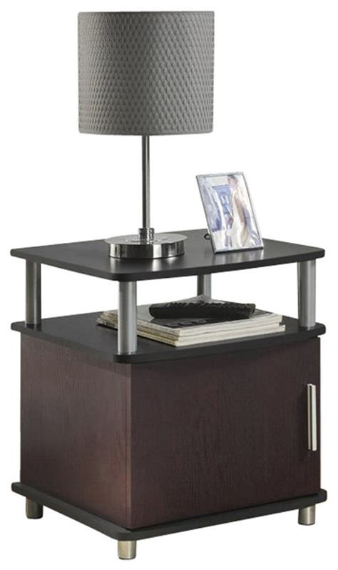 black end tables with storage altra furniture carson end table with storage in cherry