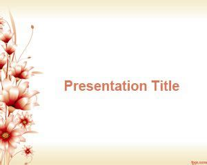 flower powerpoint template    flower design