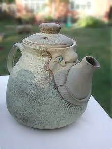 teapot large size hand  pottery  muggins