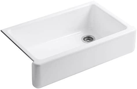 kitchen with apron sink kohler k 6489 0 white whitehaven 36 quot single basin 6489