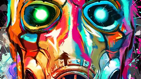 Borderlands 3 Wallpaper by Borderlands 3 Colorful Psycho Mask From Trailer Wallpapers