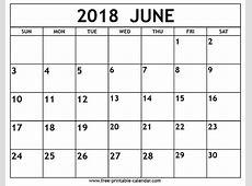 June 2018 calendar Download 2019 Calendar Printable with