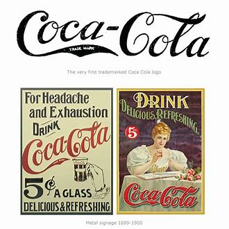 "Image result for 1893 - The trademark ""Coca-Cola"""