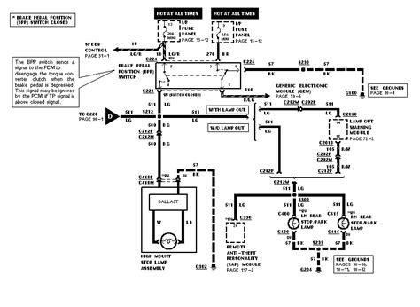 Ford Ranger Brake Light Wiring Diagram by 98 Ford Explorer Checked Fuses Light Bulbs Brake Switch