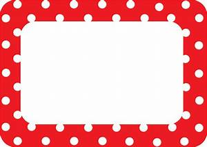 Red Polka Dots 2 Name Tags/Labels - TCR5539 Teacher