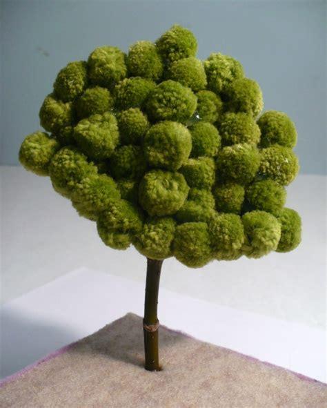 make a miniature pom pom tree 187 dollar store crafts