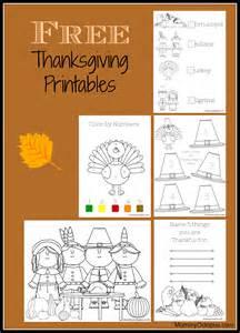Free Printable Thanksgiving Worksheets Kids