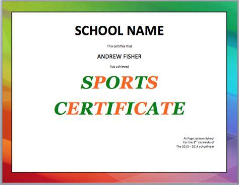 Sport Certificate Templates For Word Costumepartyrun