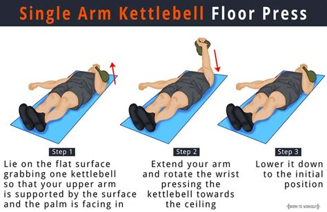 Barbell Flat Bench by Alternating Kettlebell Floor Press Exercise How To Do