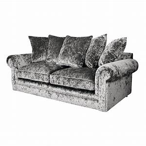charlotte chesterfield 3 seater crushed velvet sofa in With crushed velvet sectional sofa