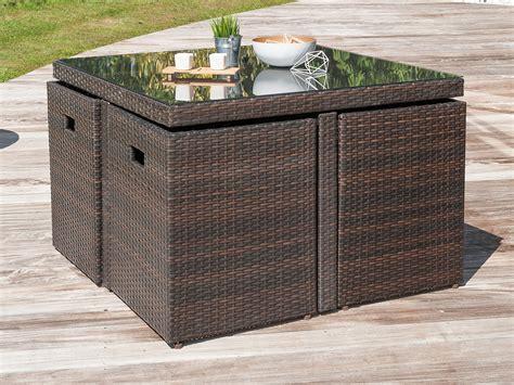 table de jardin chaise encastrable stunning table de jardin resine et verre pictures
