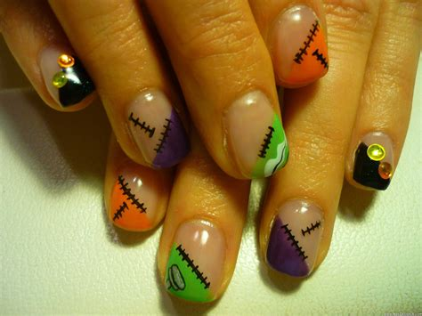 Colorful Halloween Nail Art