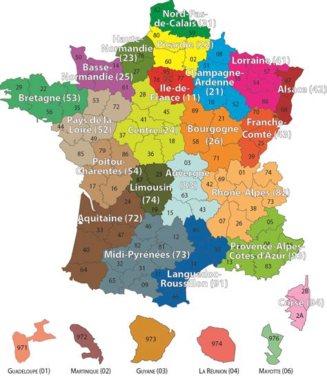 Carte Geographique De La Par Departement by Carte De Avec Les Regions Et Departements The