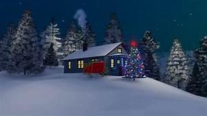 Cartoon Animation, Snow, Winter,snowmen On The Streets ...